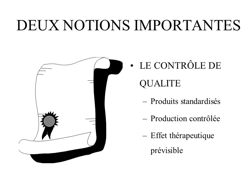 DEUX NOTIONS IMPORTANTES