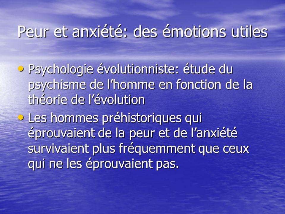 Peur et anxiété: des émotions utiles