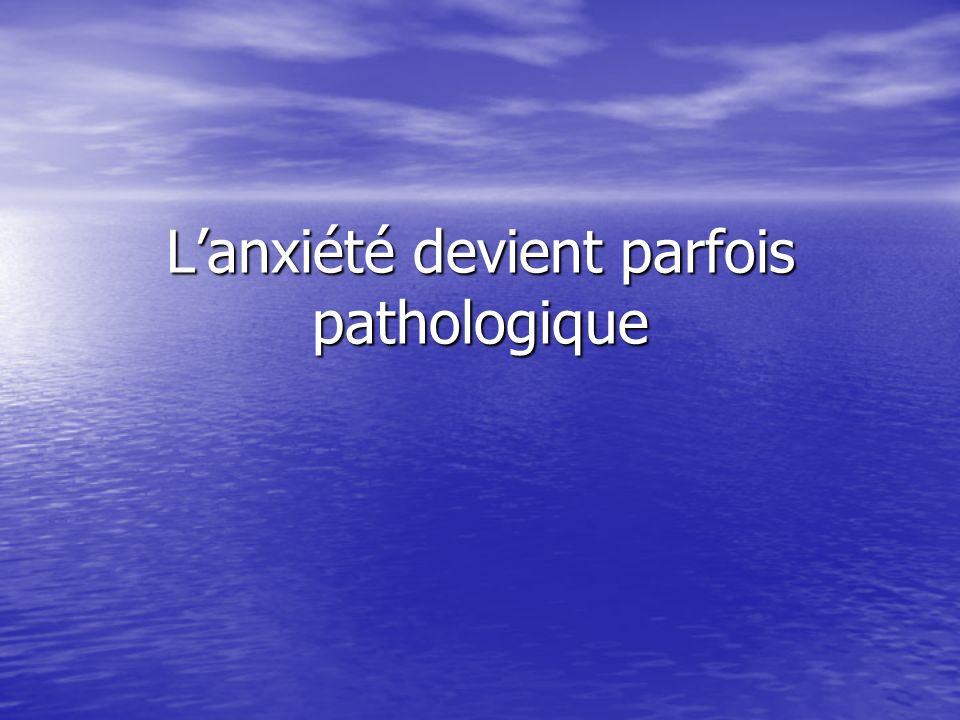 L'anxiété devient parfois pathologique