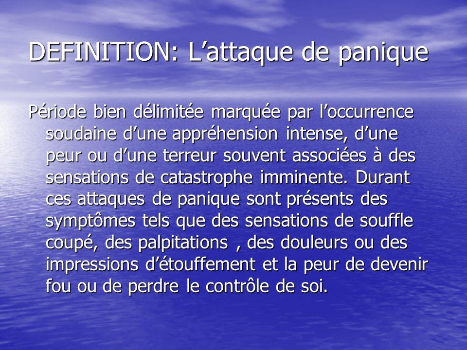 DEFINITION: L'attaque de panique