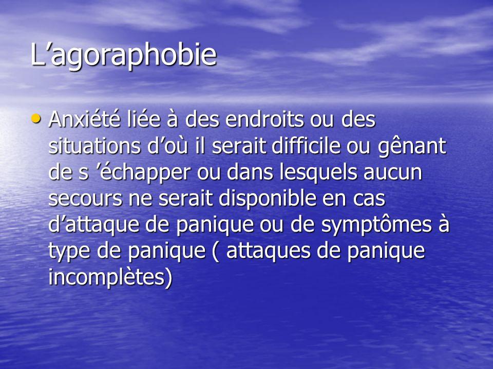 L'agoraphobie