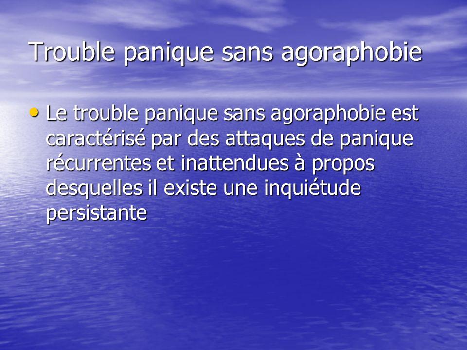 Trouble panique sans agoraphobie