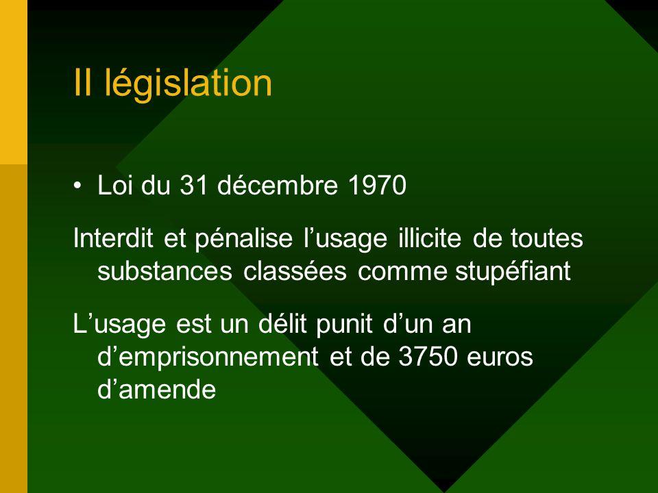 II législation Loi du 31 décembre 1970