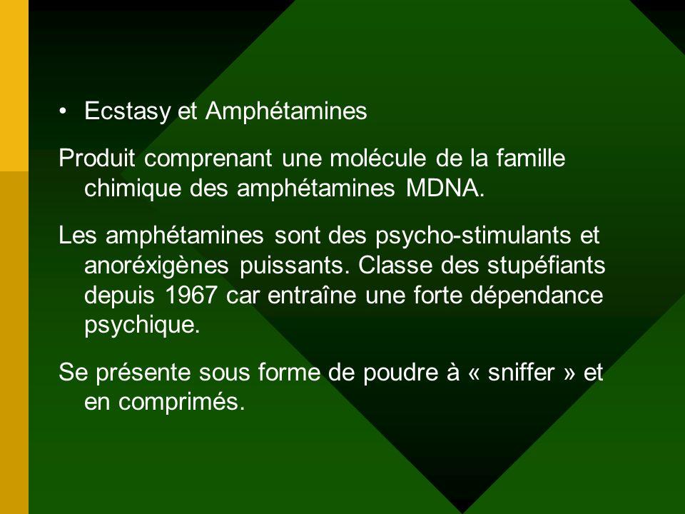 Ecstasy et Amphétamines