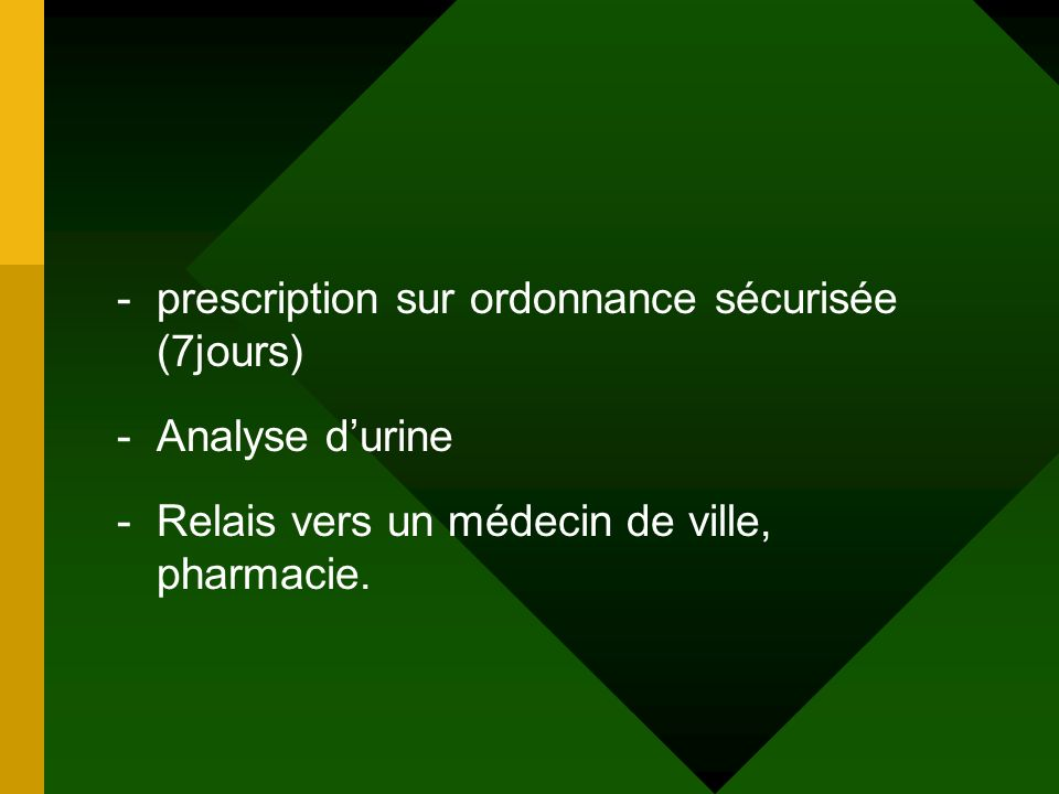 prescription sur ordonnance sécurisée (7jours)