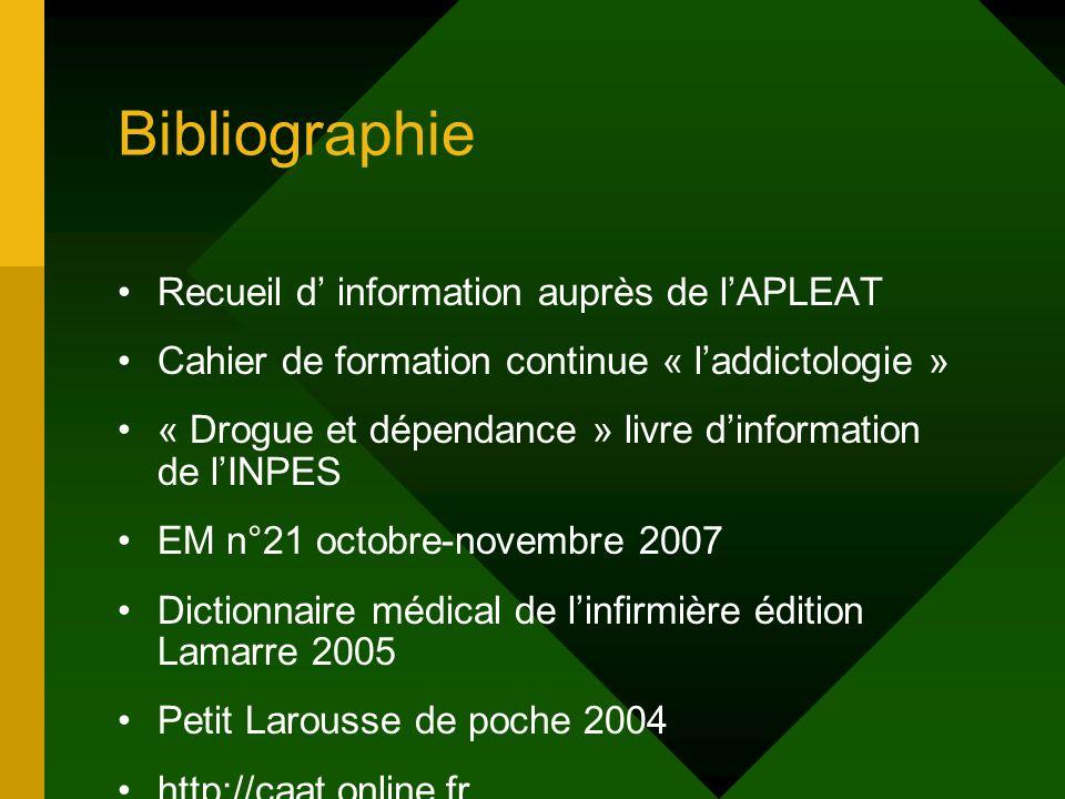 Bibliographie Recueil d' information auprès de l'APLEAT