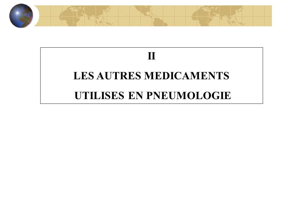 LES AUTRES MEDICAMENTS