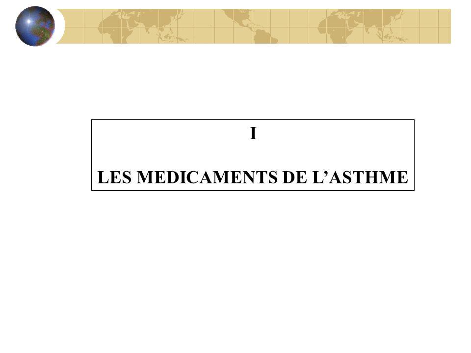 LES MEDICAMENTS DE L'ASTHME