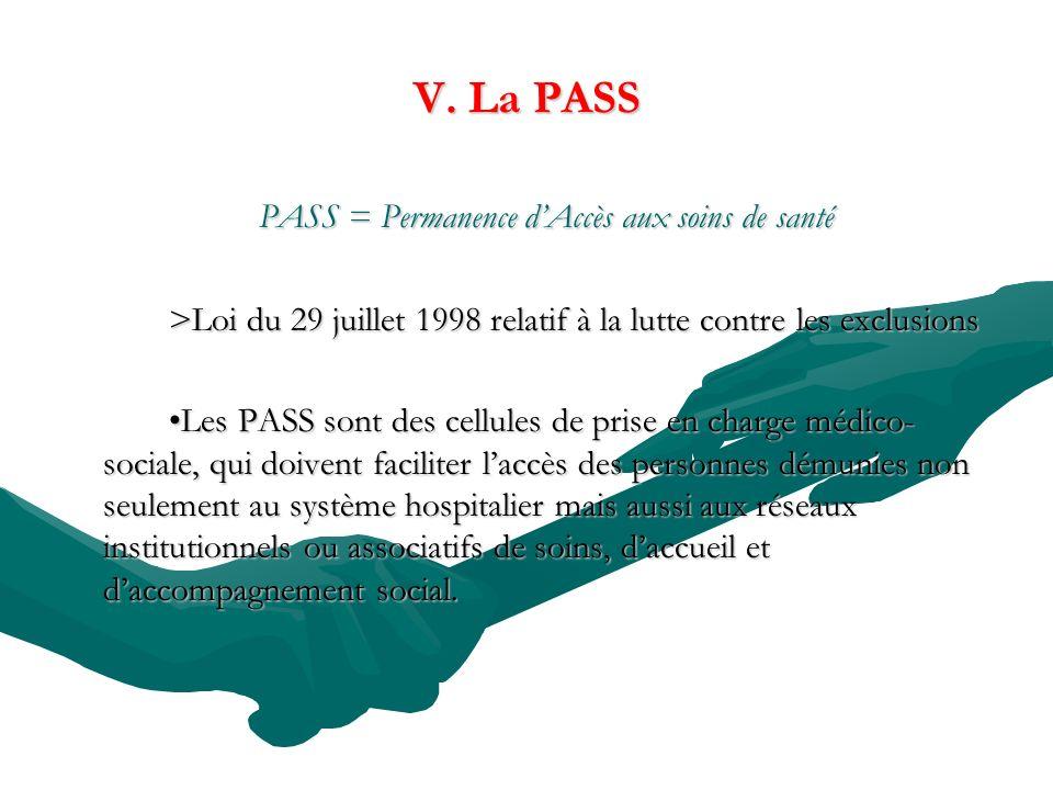 PASS = Permanence d'Accès aux soins de santé