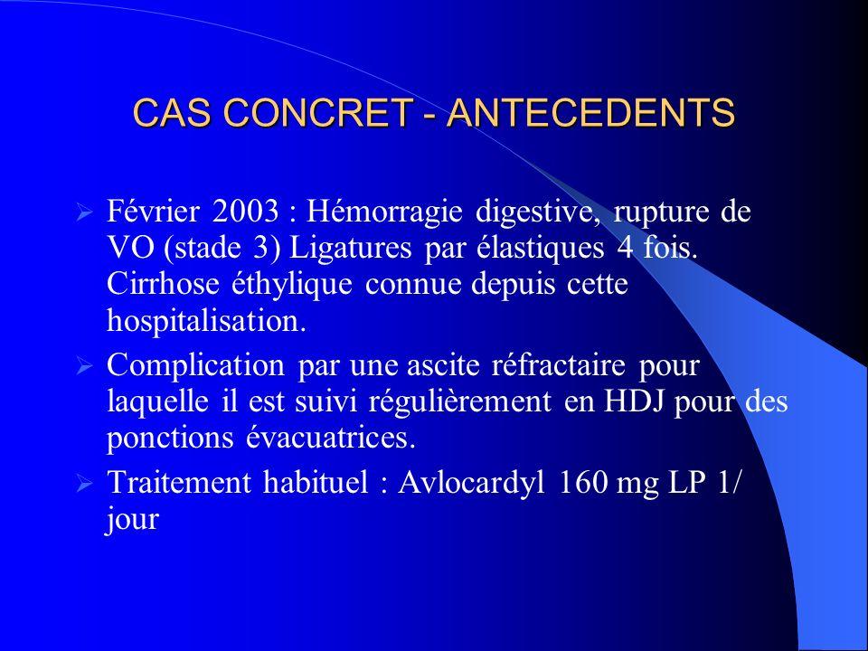 CAS CONCRET - ANTECEDENTS