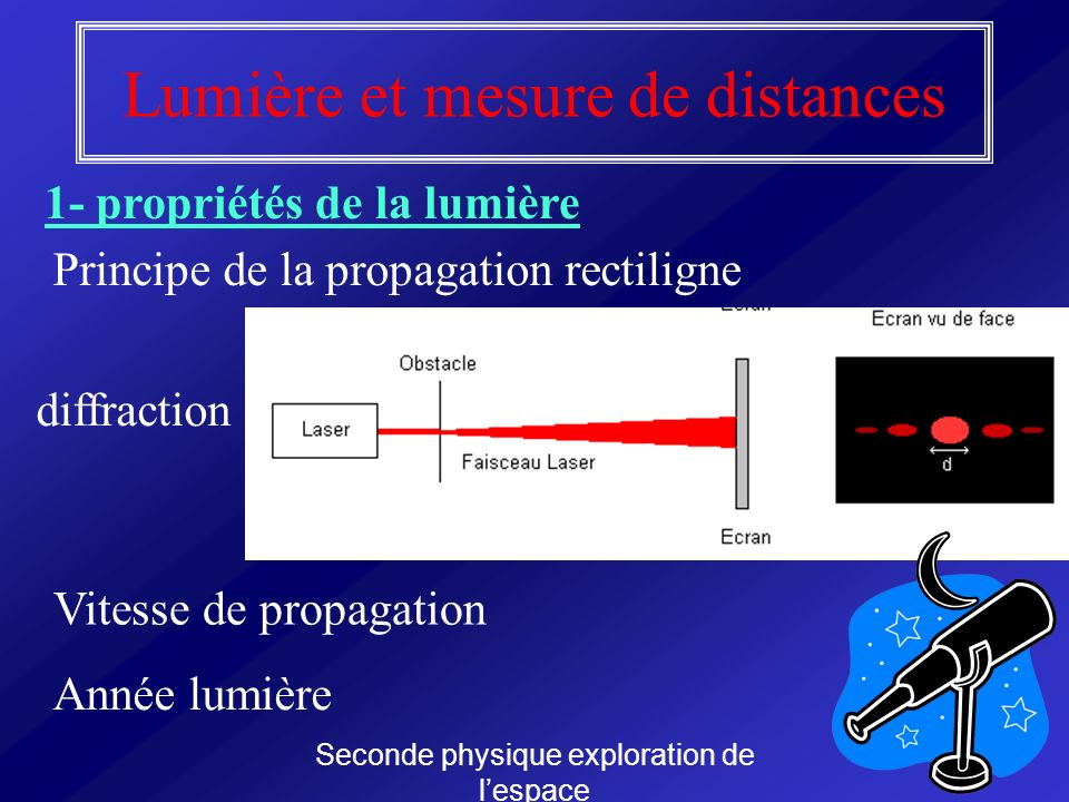 Lumière et mesure de distances