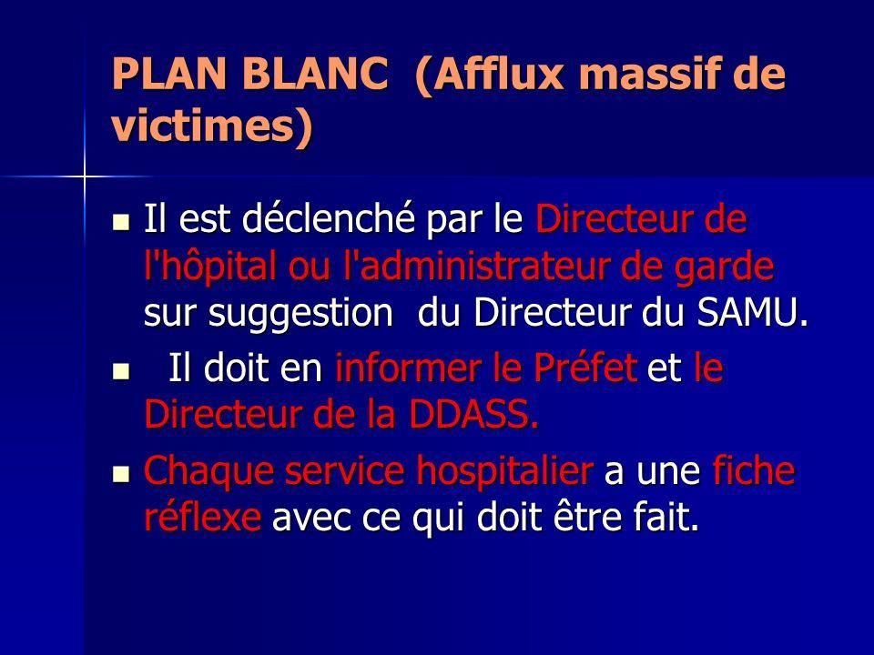 PLAN BLANC (Afflux massif de victimes)
