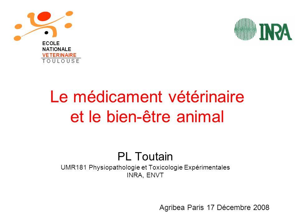 Le médicament vétérinaire et le bien-être animal