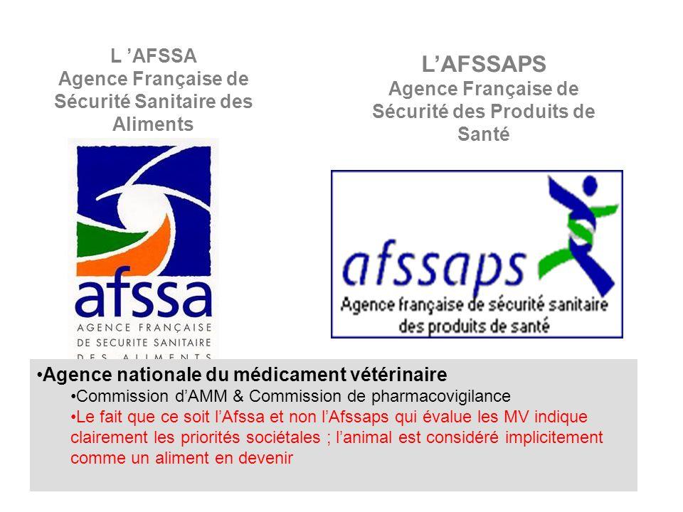 L'AFSSAPS L 'AFSSA Agence Française de Sécurité Sanitaire des Aliments