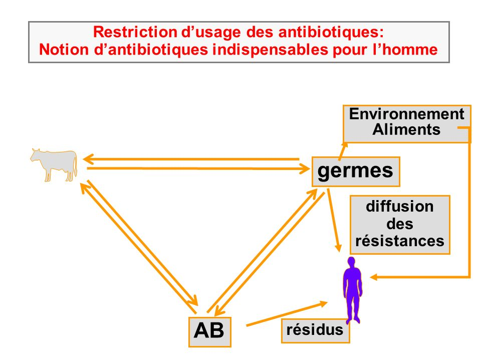 germes AB Restriction d'usage des antibiotiques: