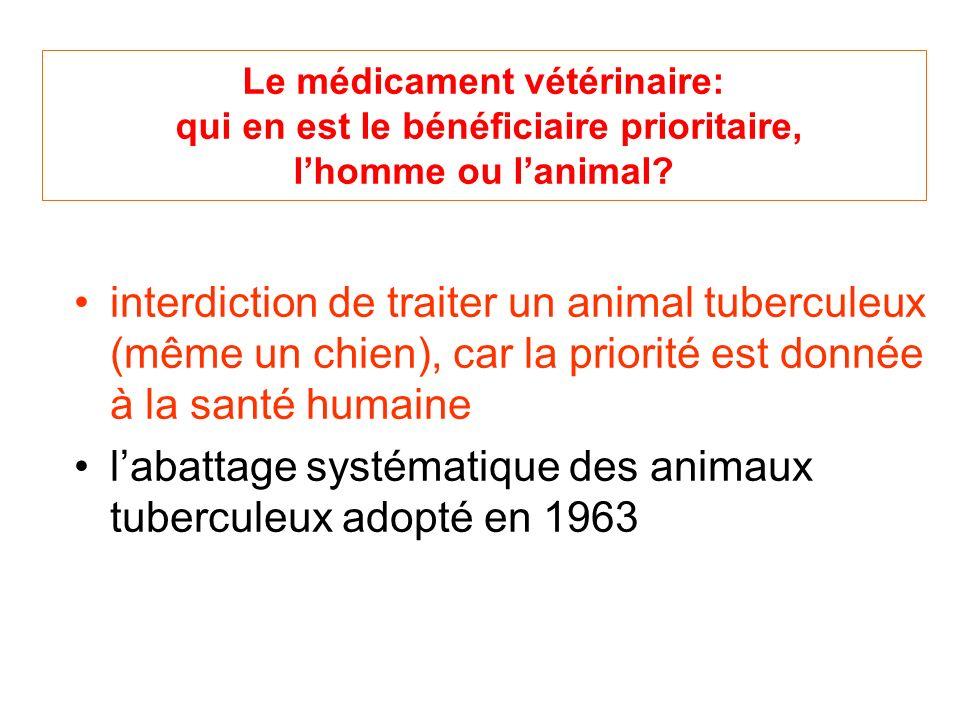 l'abattage systématique des animaux tuberculeux adopté en 1963