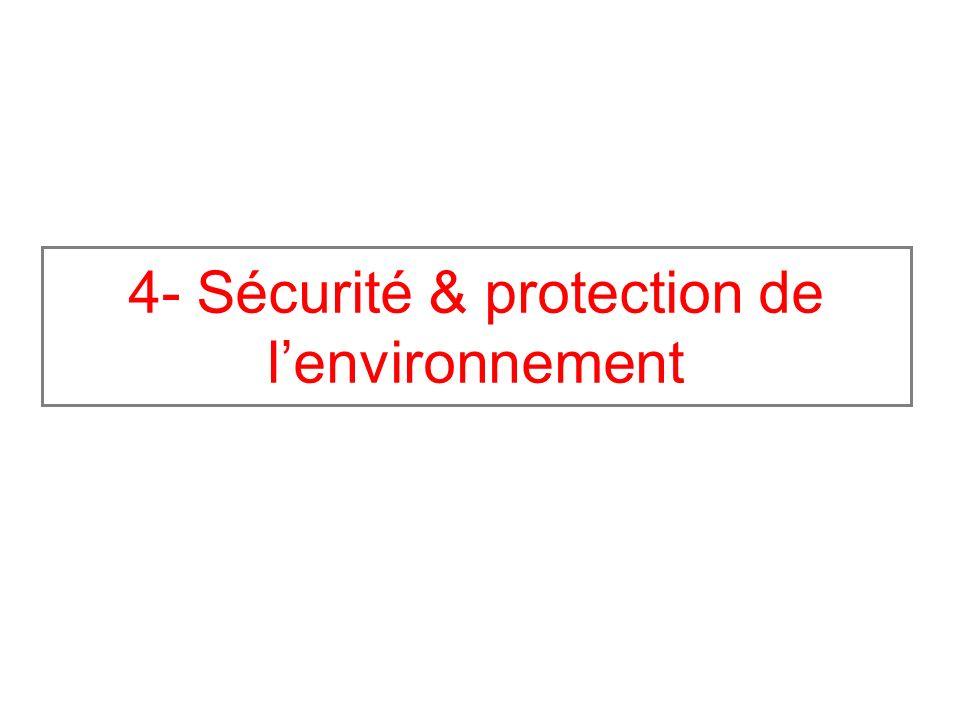 4- Sécurité & protection de l'environnement