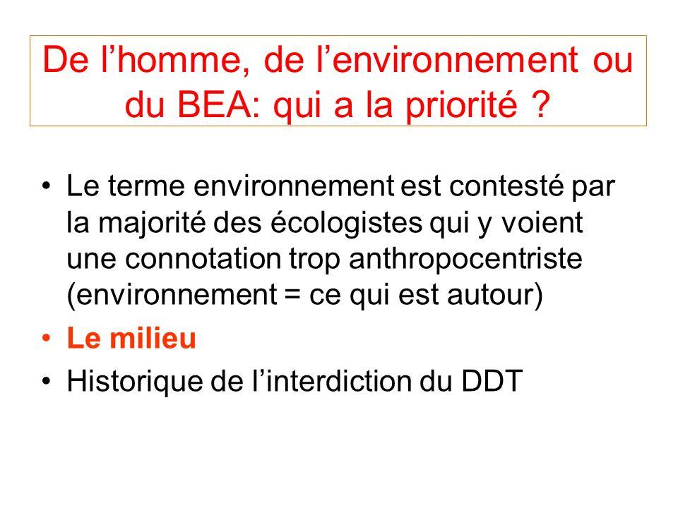 De l'homme, de l'environnement ou du BEA: qui a la priorité