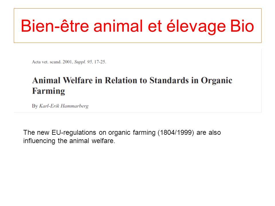 Bien-être animal et élevage Bio