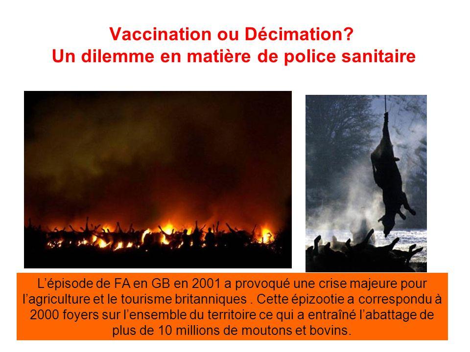 Vaccination ou Décimation Un dilemme en matière de police sanitaire
