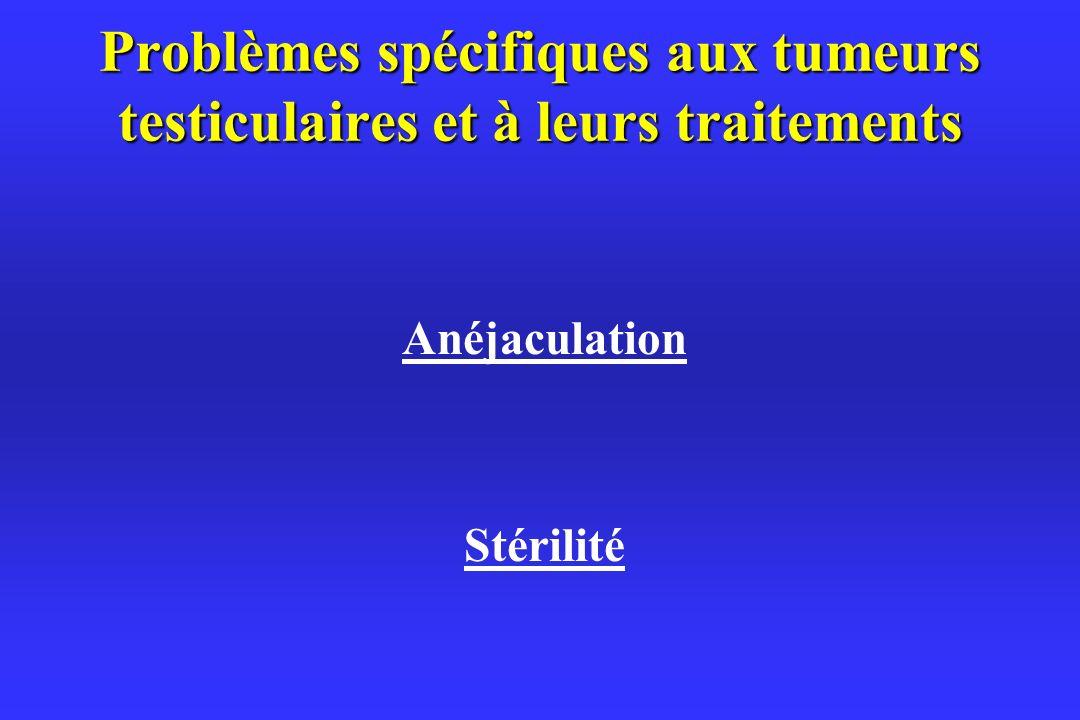 Problèmes spécifiques aux tumeurs testiculaires et à leurs traitements
