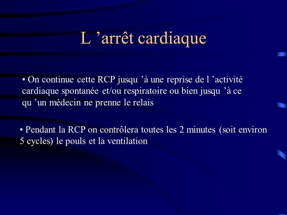 L 'arrêt cardiaque