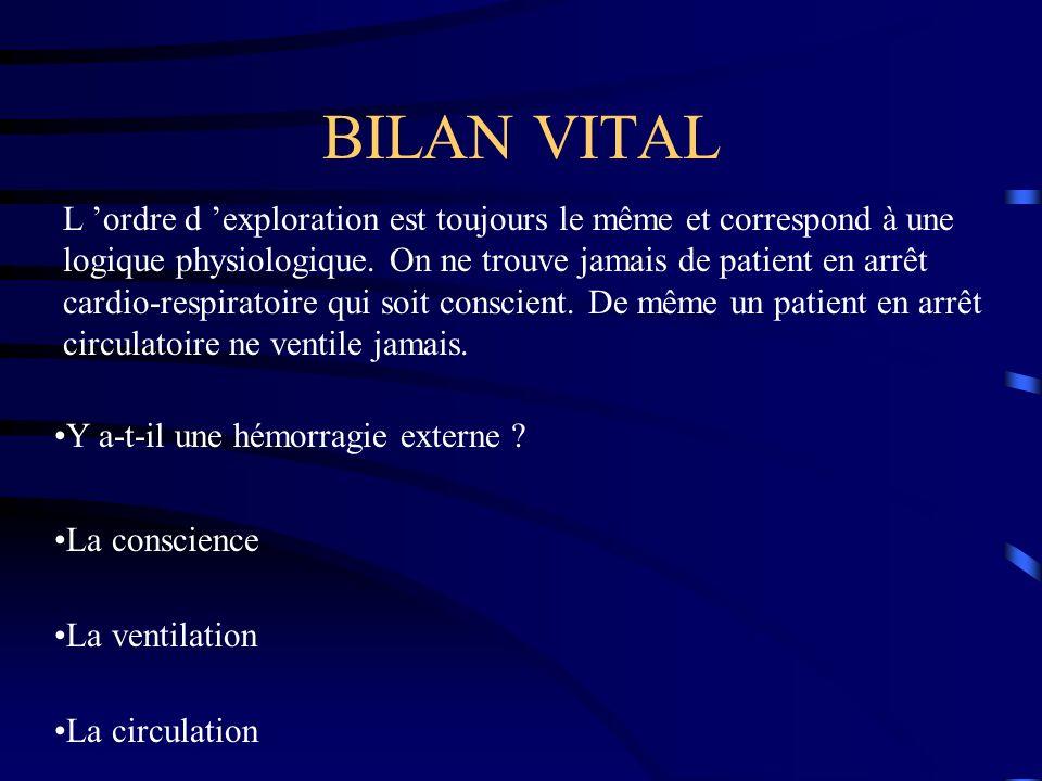 BILAN VITAL