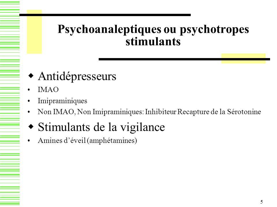 Psychoanaleptiques ou psychotropes stimulants