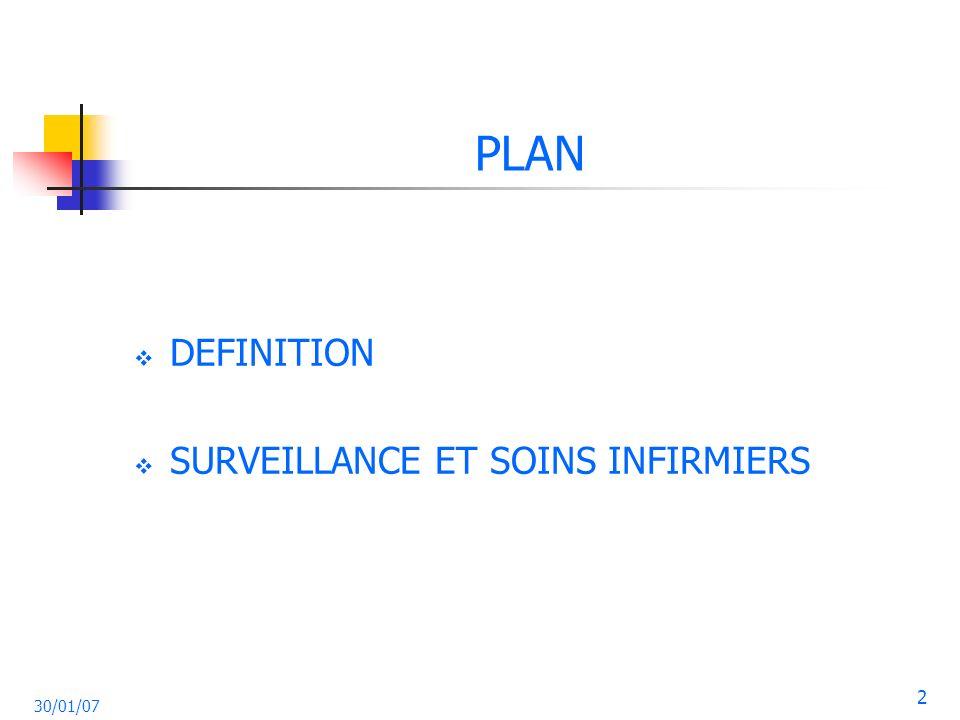 PLAN DEFINITION SURVEILLANCE ET SOINS INFIRMIERS 30/01/07