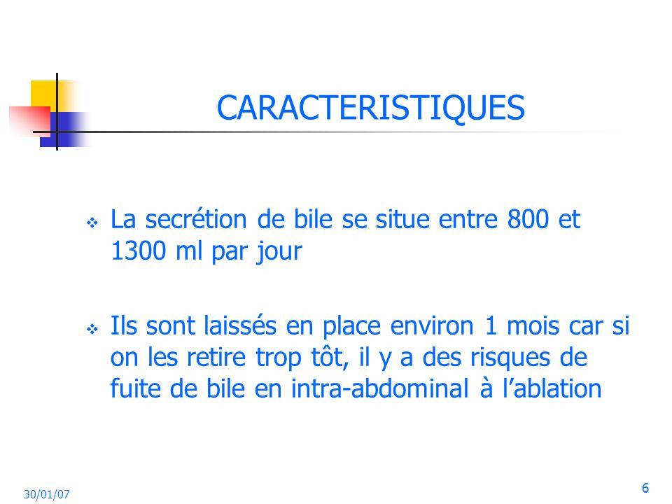 CARACTERISTIQUES La secrétion de bile se situe entre 800 et 1300 ml par jour.