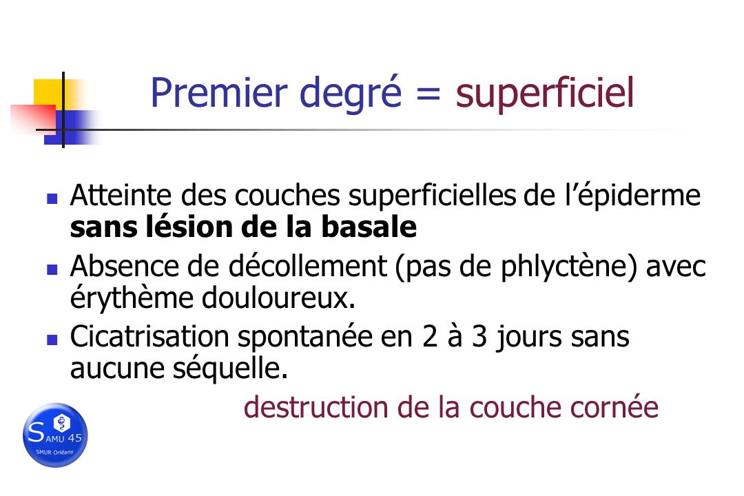 Premier degré = superficiel