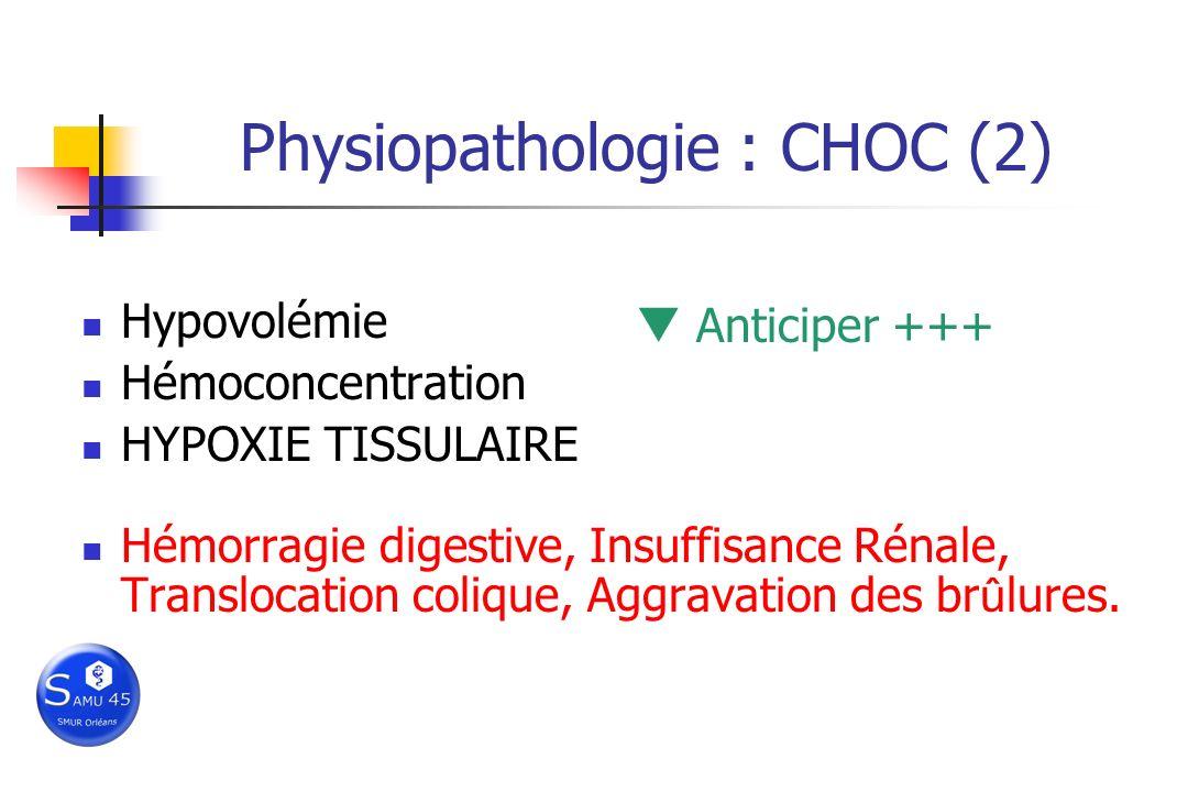 Physiopathologie : CHOC (2)