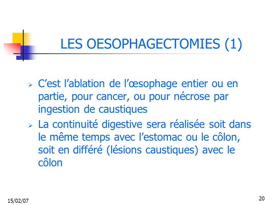 LES OESOPHAGECTOMIES (1)