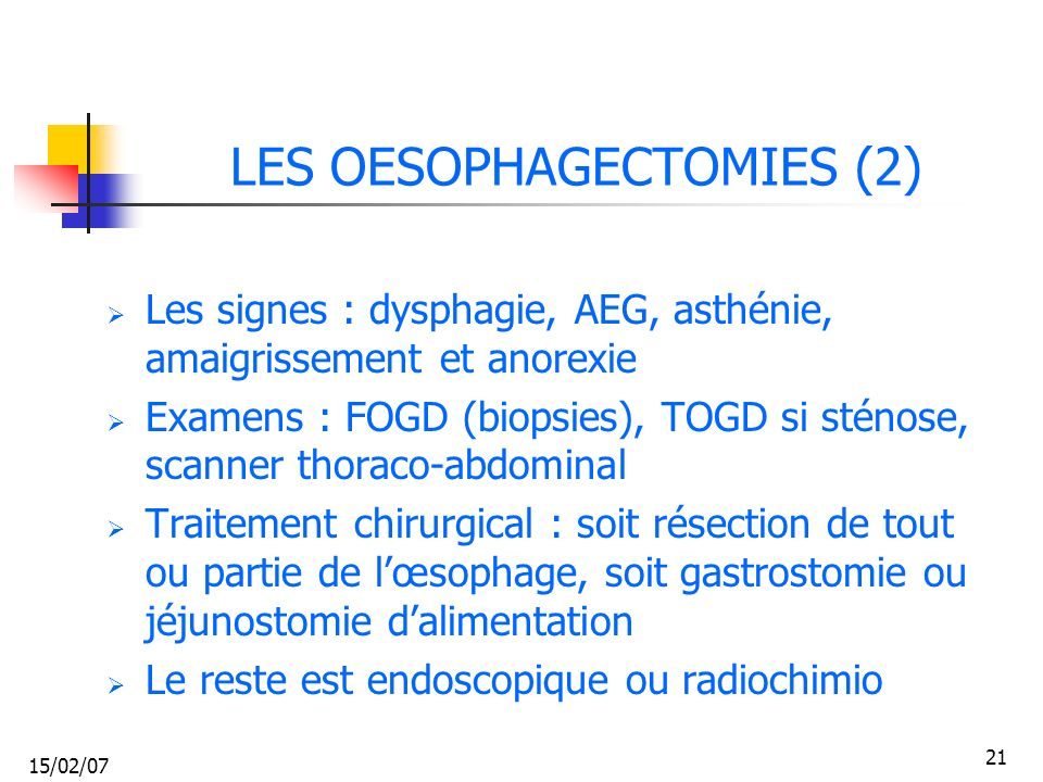LES OESOPHAGECTOMIES (2)