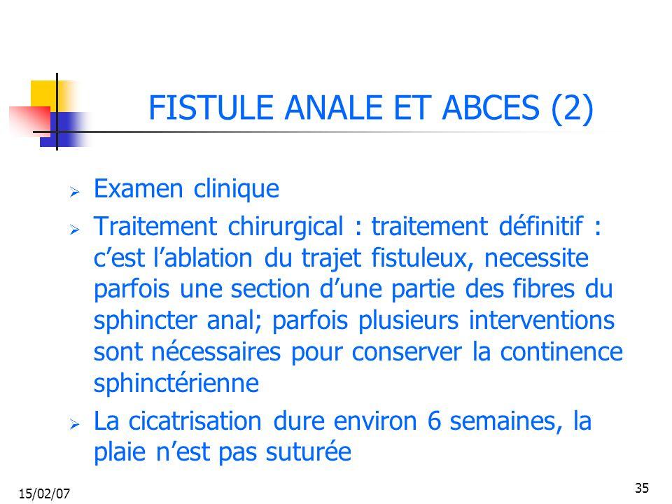 FISTULE ANALE ET ABCES (2)