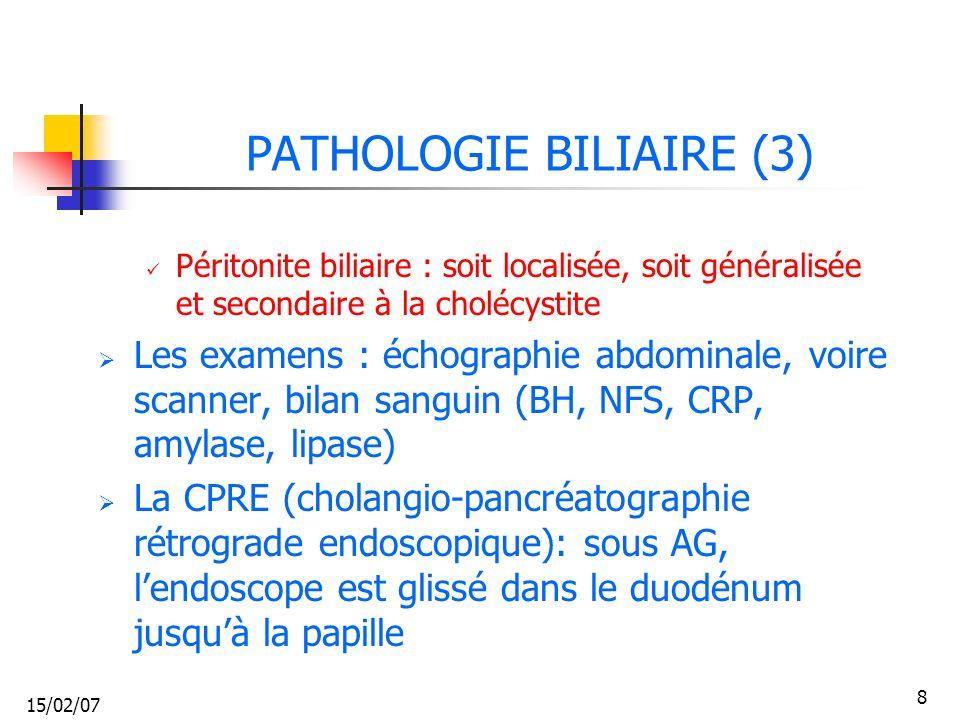 PATHOLOGIE BILIAIRE (3)