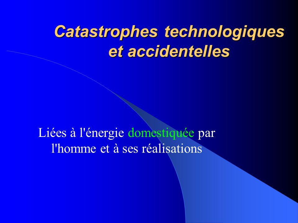 Catastrophes technologiques et accidentelles