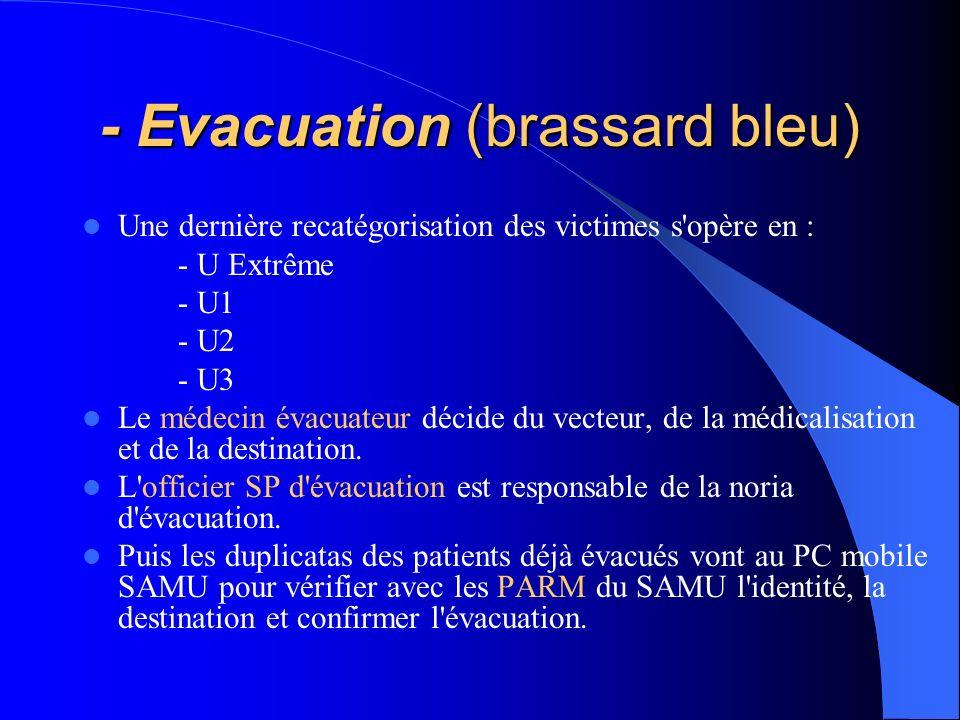 - Evacuation (brassard bleu)
