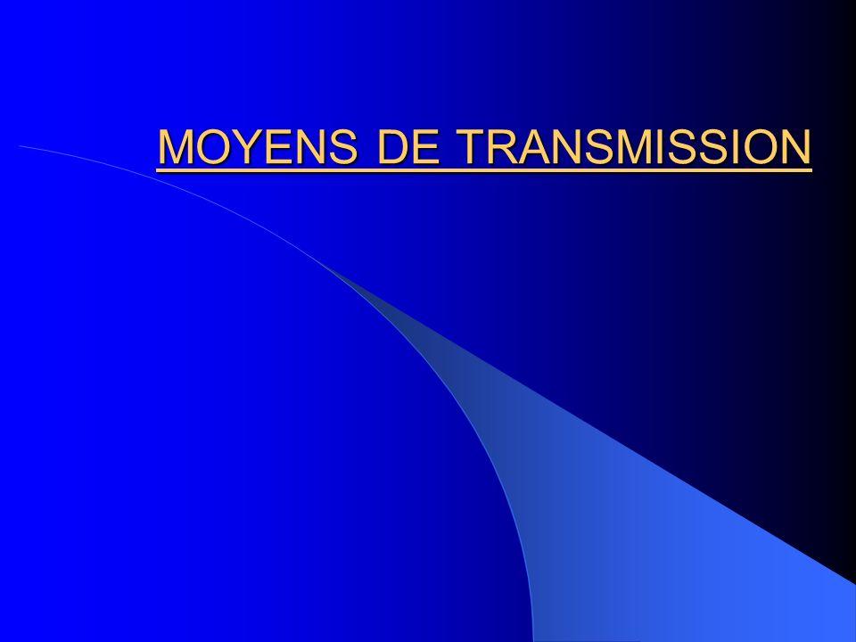 MOYENS DE TRANSMISSION