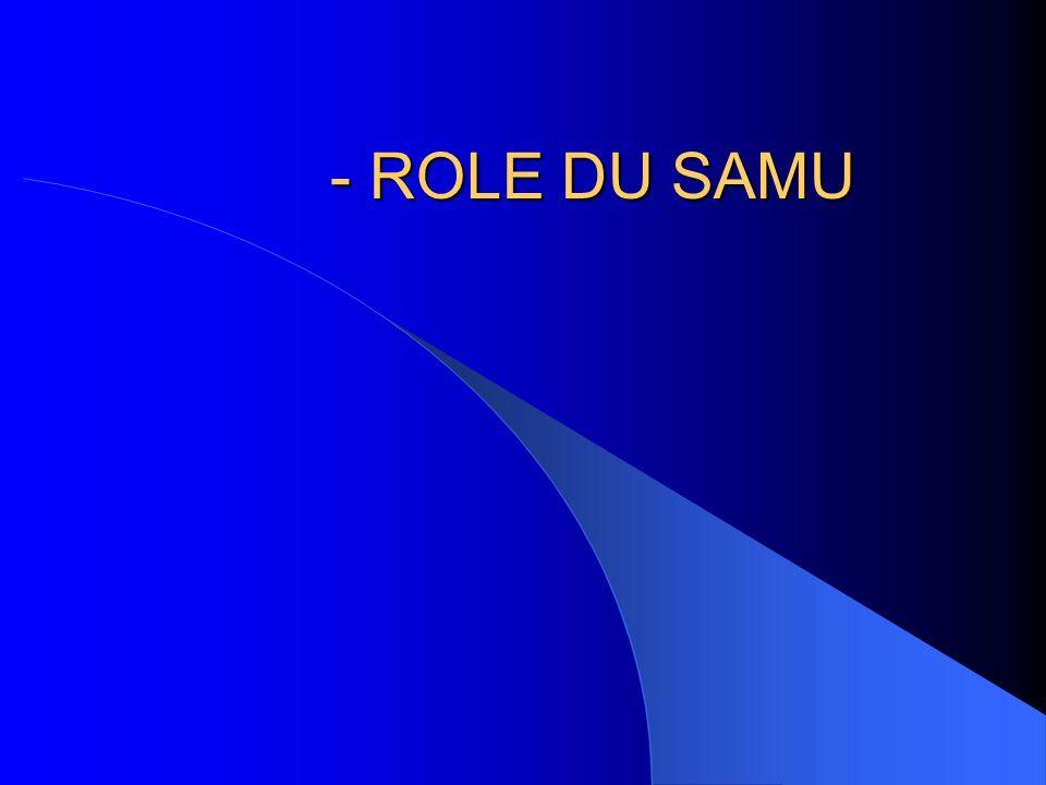 - ROLE DU SAMU