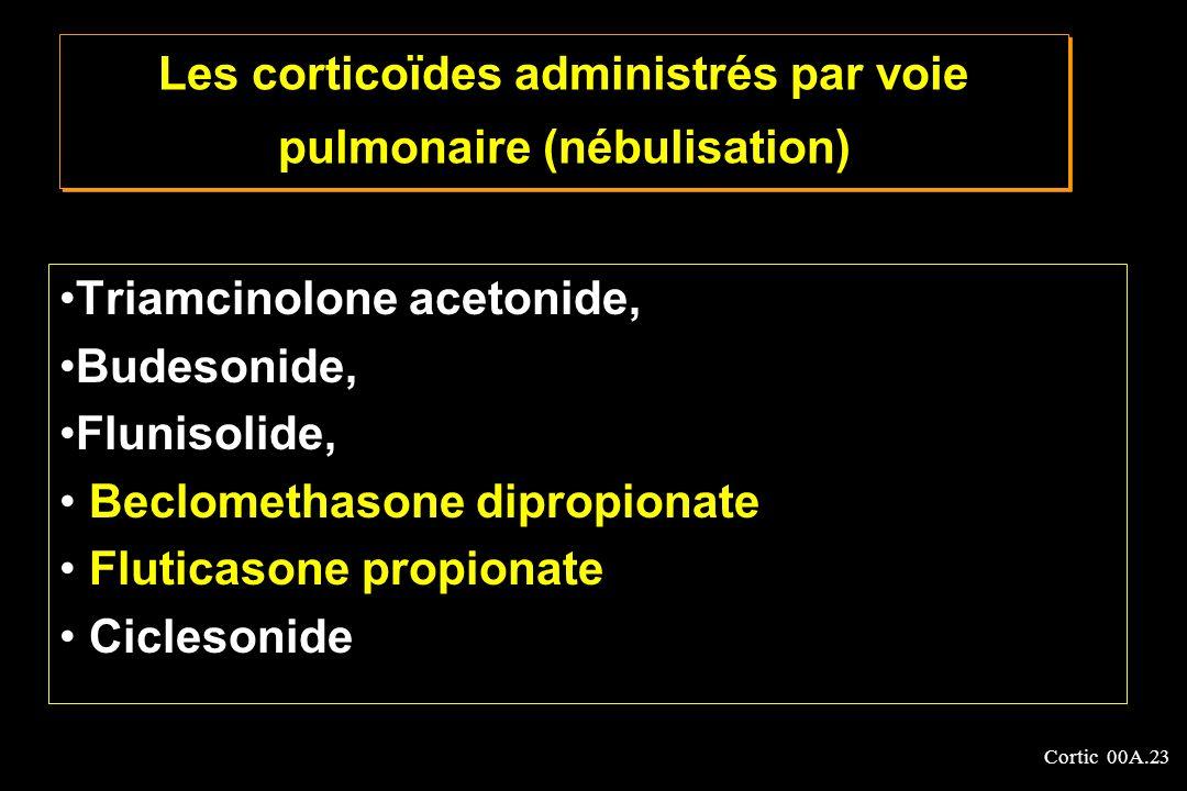 Les corticoïdes administrés par voie pulmonaire (nébulisation)