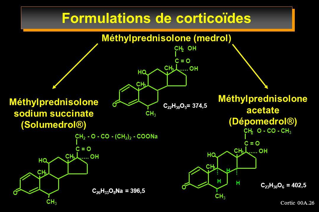 Formulations de corticoïdes