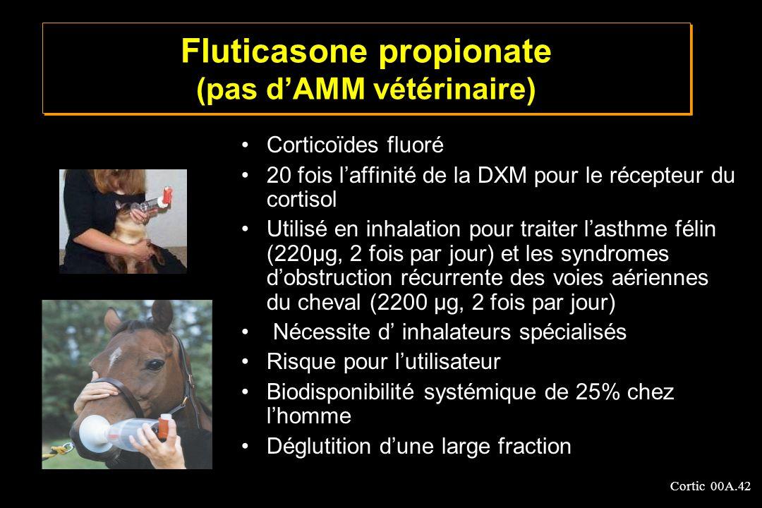 Fluticasone propionate (pas d'AMM vétérinaire)