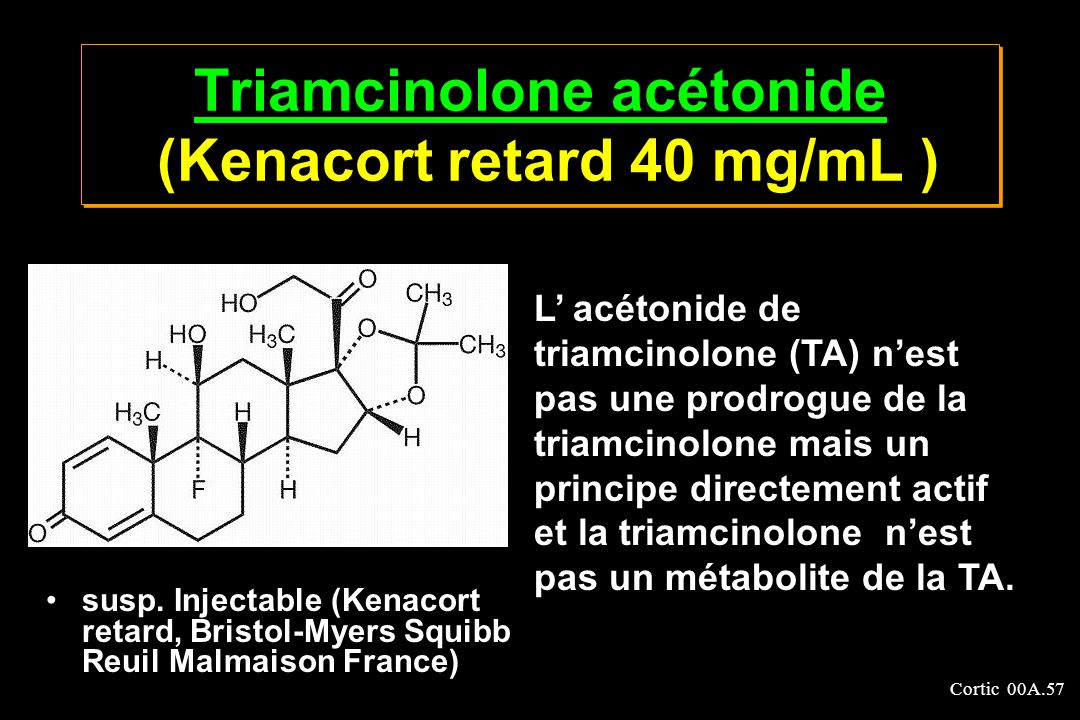 Triamcinolone acétonide (Kenacort retard 40 mg/mL )