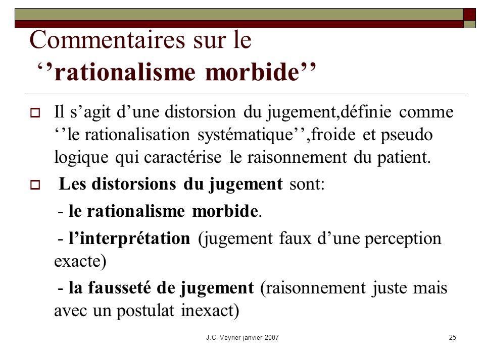Commentaires sur le ''rationalisme morbide''
