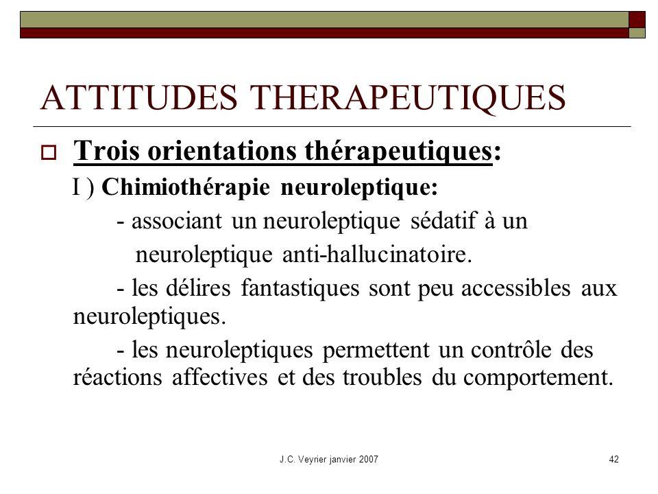 ATTITUDES THERAPEUTIQUES