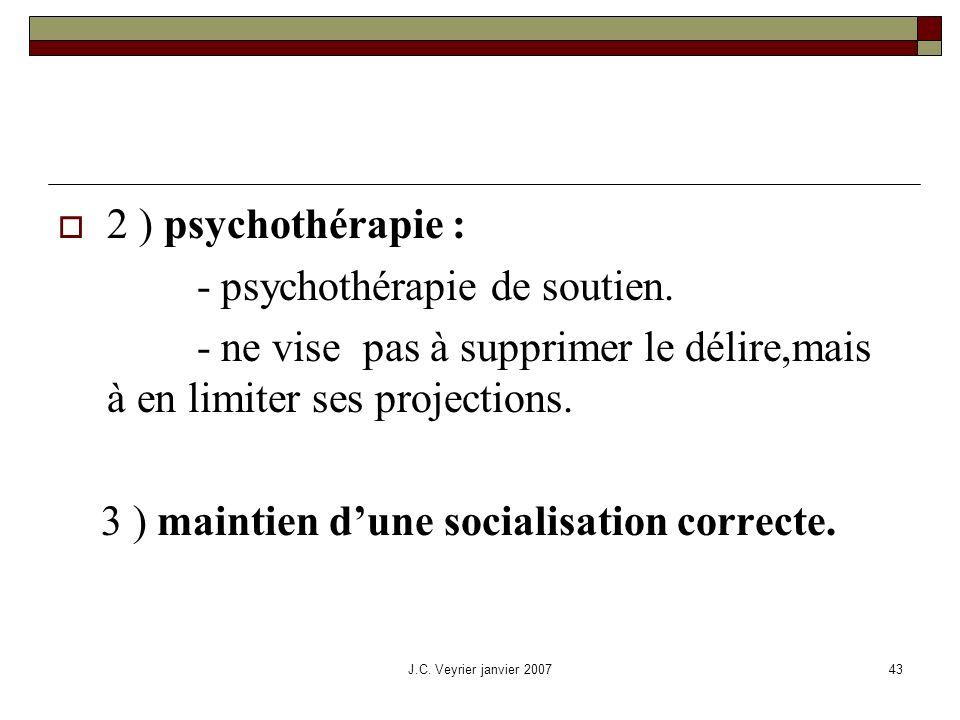 - psychothérapie de soutien.