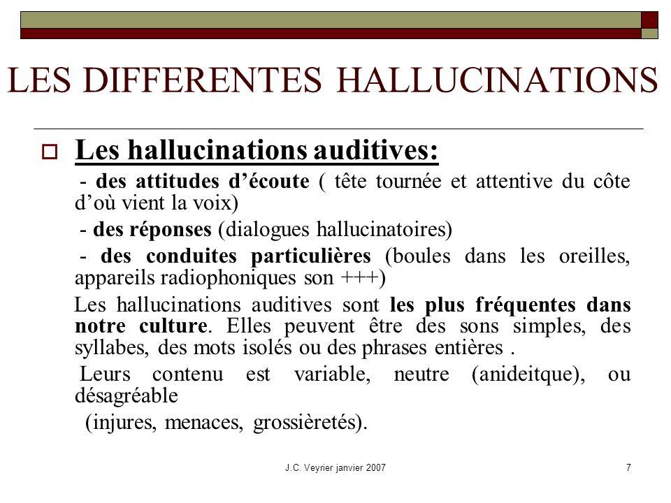 LES DIFFERENTES HALLUCINATIONS