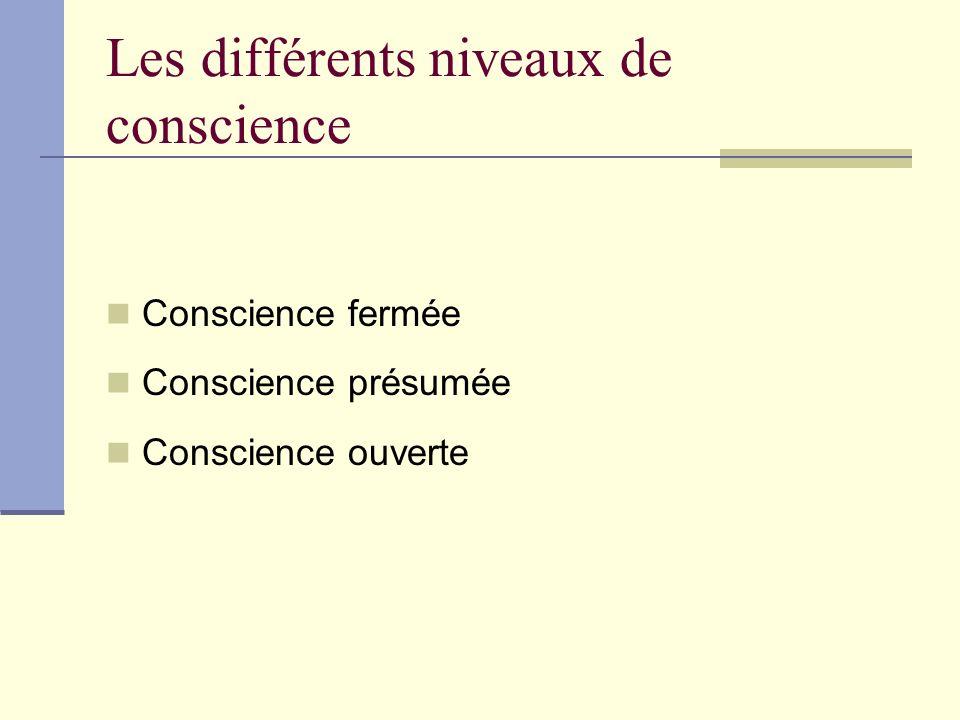 Les différents niveaux de conscience