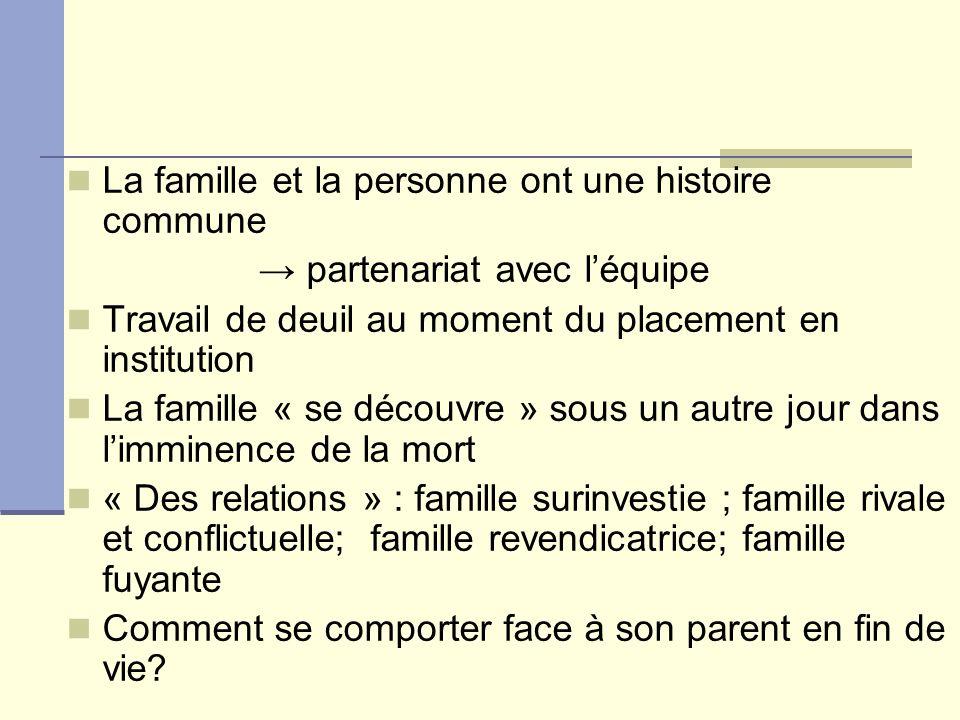 La famille et la personne ont une histoire commune